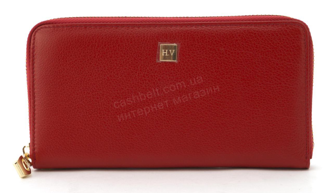 Стильный женский кожаный кошелек барсетка высокого качества SALFEITE art. 2548S красный