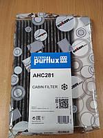"""Фильтр салона (вентиляции кабины) RENAULT MEGANE III 1.2-2.0 2008> угольный """"PURFLUX"""" AHC281 - Франция"""