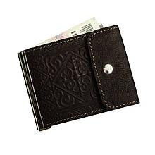 Зажим для денег кожаный Арт Кажан (1034)