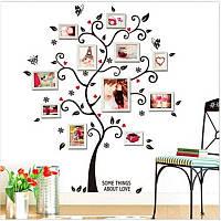 Наклейка виниловая Семейное дерево на стену