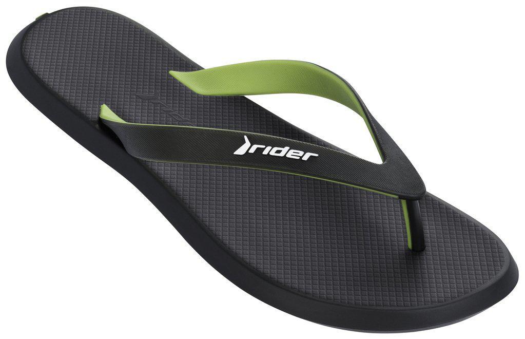 Оригинал Вьетнамки мужские 10594-23680 Rider R1 Black/Black/Green Черные