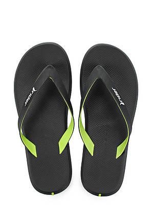 Оригинал Вьетнамки мужские 10594-23680 Rider R1 Black/Black/Green Черные, фото 2