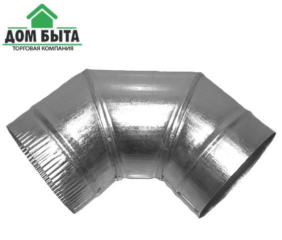 Угол 90 градусов из оцинкованного металла с диаметром 160