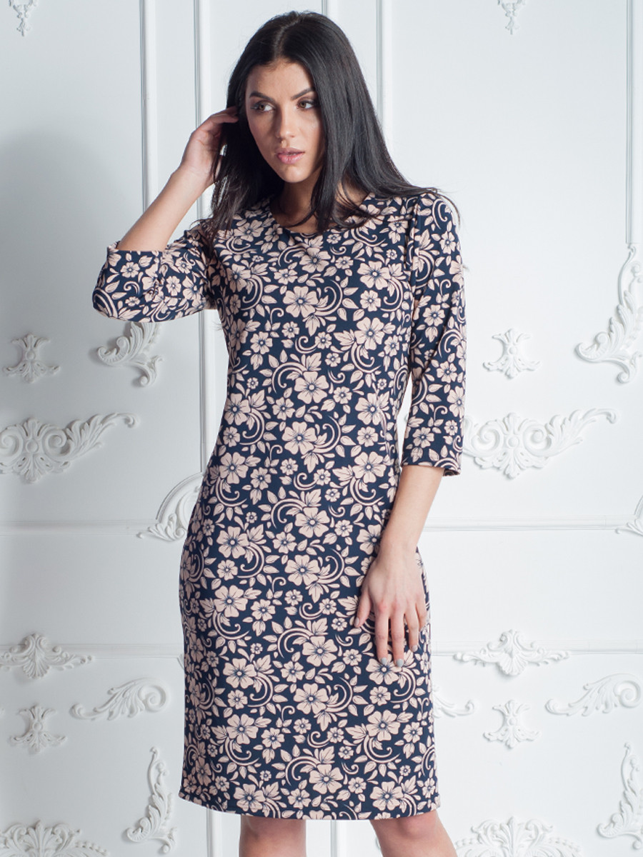 Жіноче плаття з квітковим принтом