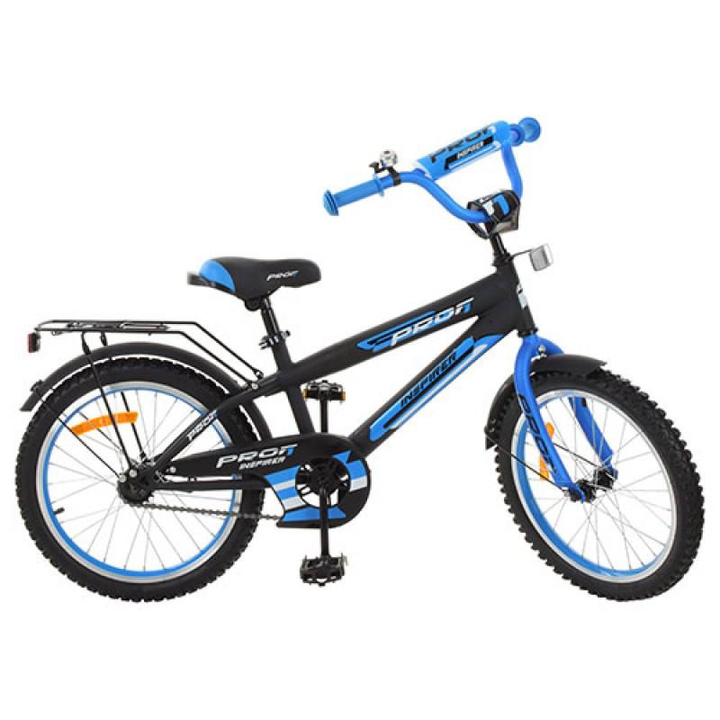 Детский двухколесный велосипед PROFI 20 дюймов синий с черным,  G2053 Inspirer