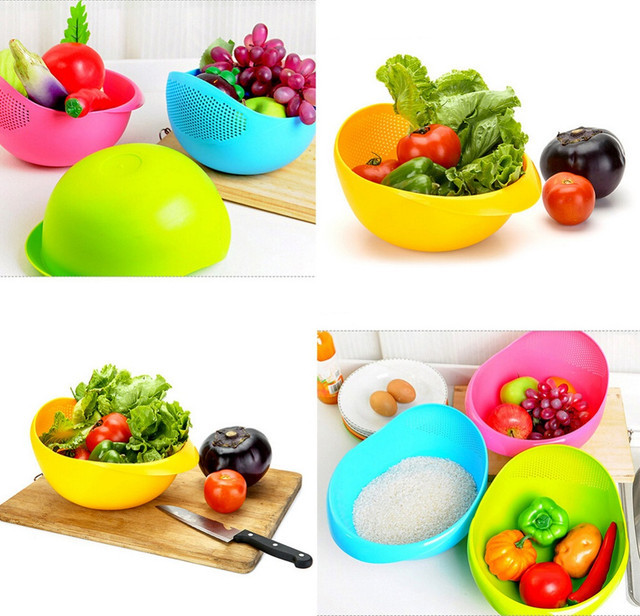 Миска 2-в-1 для фруктов, овощей, круп и др.-большая