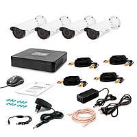 Комплект AHD видеонаблюдения на 4 варифокальные уличные камеры Tecsar 4OUT VARIO