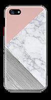 Чехол дляiphone 5 / 5s / 5se Тройной мрамор (розовый) опт, розница Пластик глянец, Пластик глянец
