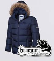 Мужская зимняя куртка на тинсулейте Braggart 2033 темно-синяя