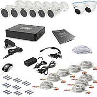 Комплект AHD видеонаблюдения на 8 уличных (6+2) камер Tecsar 8OUT-MIX2