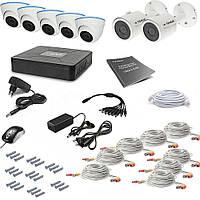 Комплект AHD видеонаблюдения на 8 уличных (2+6) камер Tecsar 8OUT-MIX3