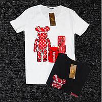 Женская футболка LOUIS VUITTON с мишкой