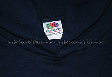 0c83a30e Детская премиум толстовка с капюшоном Глубоко Тёмно-синяя Fruit Of The Loom  62-037