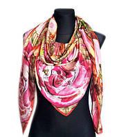 Шелковый платок Сицилия, 135х135 см, розовый