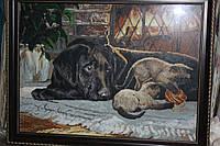 Собака у камина