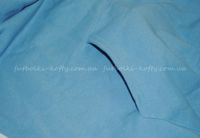 Небесно-голубая детская премиум толстовка с капюшоном