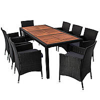 Комплект мебели из техноротанга BAHAMA SET MAX (дерево 8 стульев)