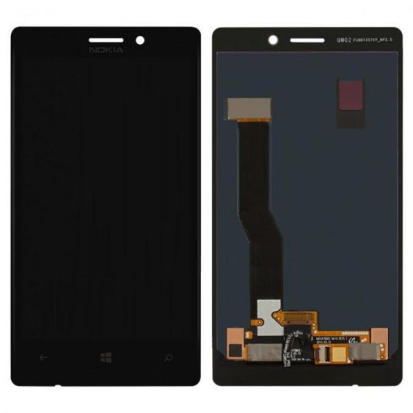 Дисплей (экран) для Nokia 925 Lumia с сенсором (тачскрином) черный Оригинал