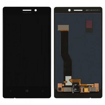 Дисплей (экран) для Nokia 925 Lumia с сенсором (тачскрином) черный Оригинал, фото 2