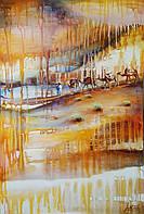 «Мелодия песчаных дюн» картина масло акрил