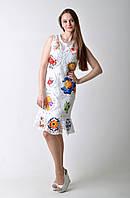Белое нарядное брендовое платье DG
