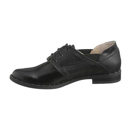 Кожаные туфли со шнуровкой оптом, фото 2