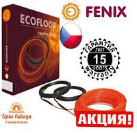 Электрический теплый пол Нагревательный кабель Fenix 0.9-1.2 м2