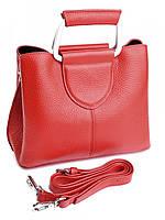 Женская сумка на металлических ручках NO-8633 красная