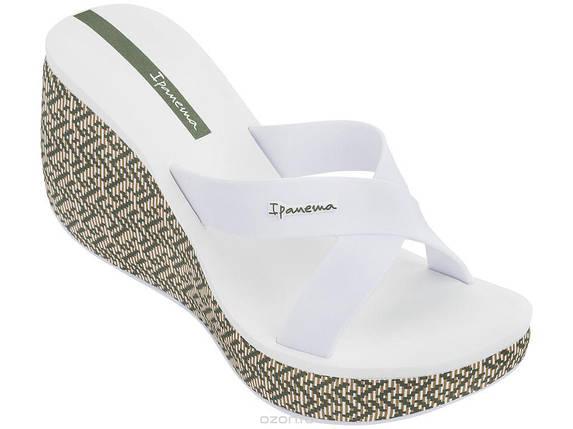 Оригинал Шлепанцы женские на платформе 82288-21552 Ipanema Lipstick Straps IV Fem White, фото 2