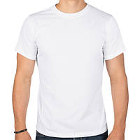 Мужская футболка белая однотонная, LCY&CITY Турция
