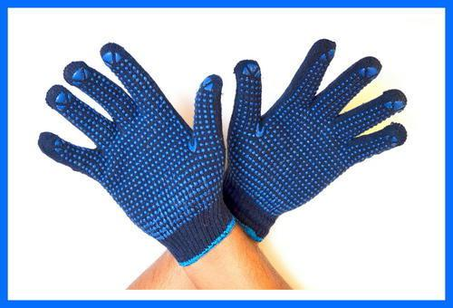 Перчатки трикотажные с ПВХ-покрытием RT1138-1-NO, черные, р.10