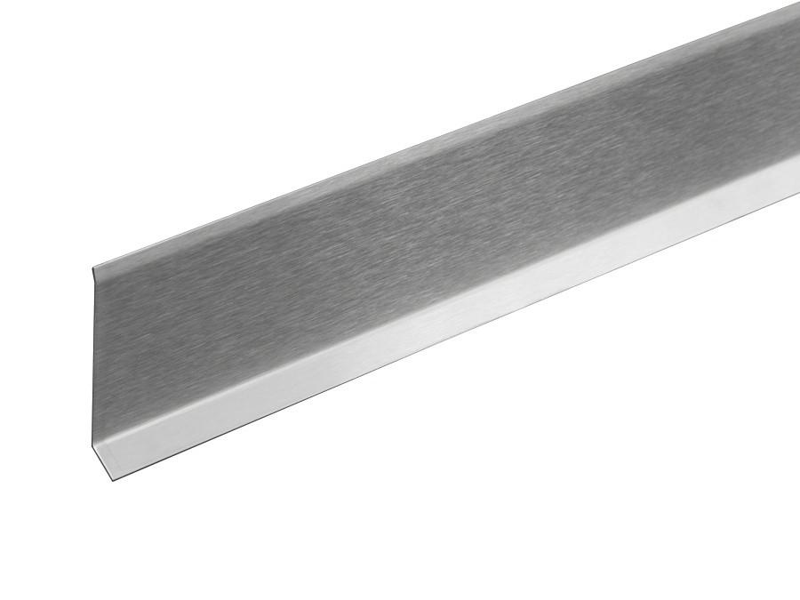 Плинтус металлический Profilpas Metal line 790/4 нержавеющая сталь, шлифованный 10х40х2700 мм.