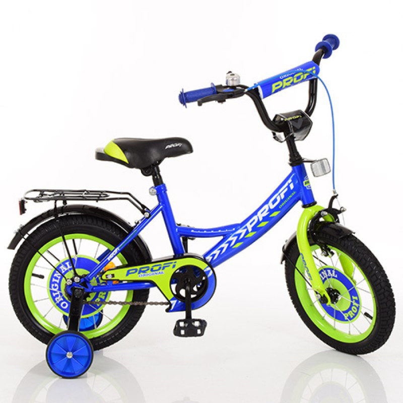 Детский двухколесный велосипед для мальчика PROFI 14 дюймов синий, Y1441  Original boy