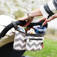 Сумка для коляски в полоску ( модные сумки )