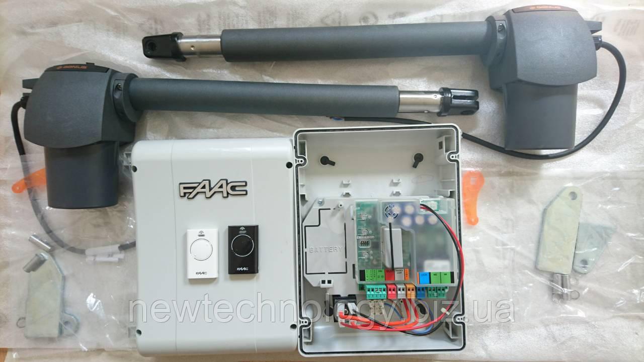 Комплект приводов FAAC GENIUS G-BAT324 KIT, створка до 3 м, 24 В