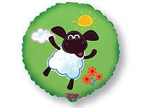Гелиевый шар фольга 45см овечка