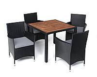 Комплект мебели из техноротанга BAHAMA (дерево 4 стула)