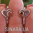 Серебряные серьги Сердца, фото 5