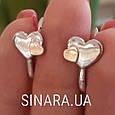 Серебряные серьги Сердца, фото 4