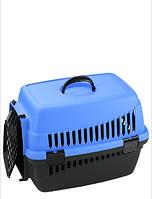 Переноска для кошек (чёрно-синяя)