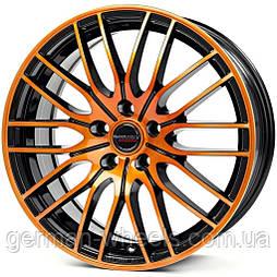 Диски Borbet CW4 цвет Black Orange Glossy параметры 7J x 17'' 5 x 108 ET 20