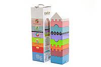 Бесплатная доставка. Детский деревянный конструктор Пирамида Cubika(Кубика) 11315. Деревянные эко игрушки