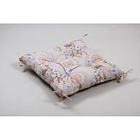 Подушка на стул Lotus 45*45 - Osaka с завязками серый