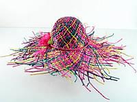 Соломенная шляпа Амазонка 60 см цветная