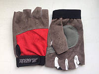 Перчатки для фитнеса ткань + замша