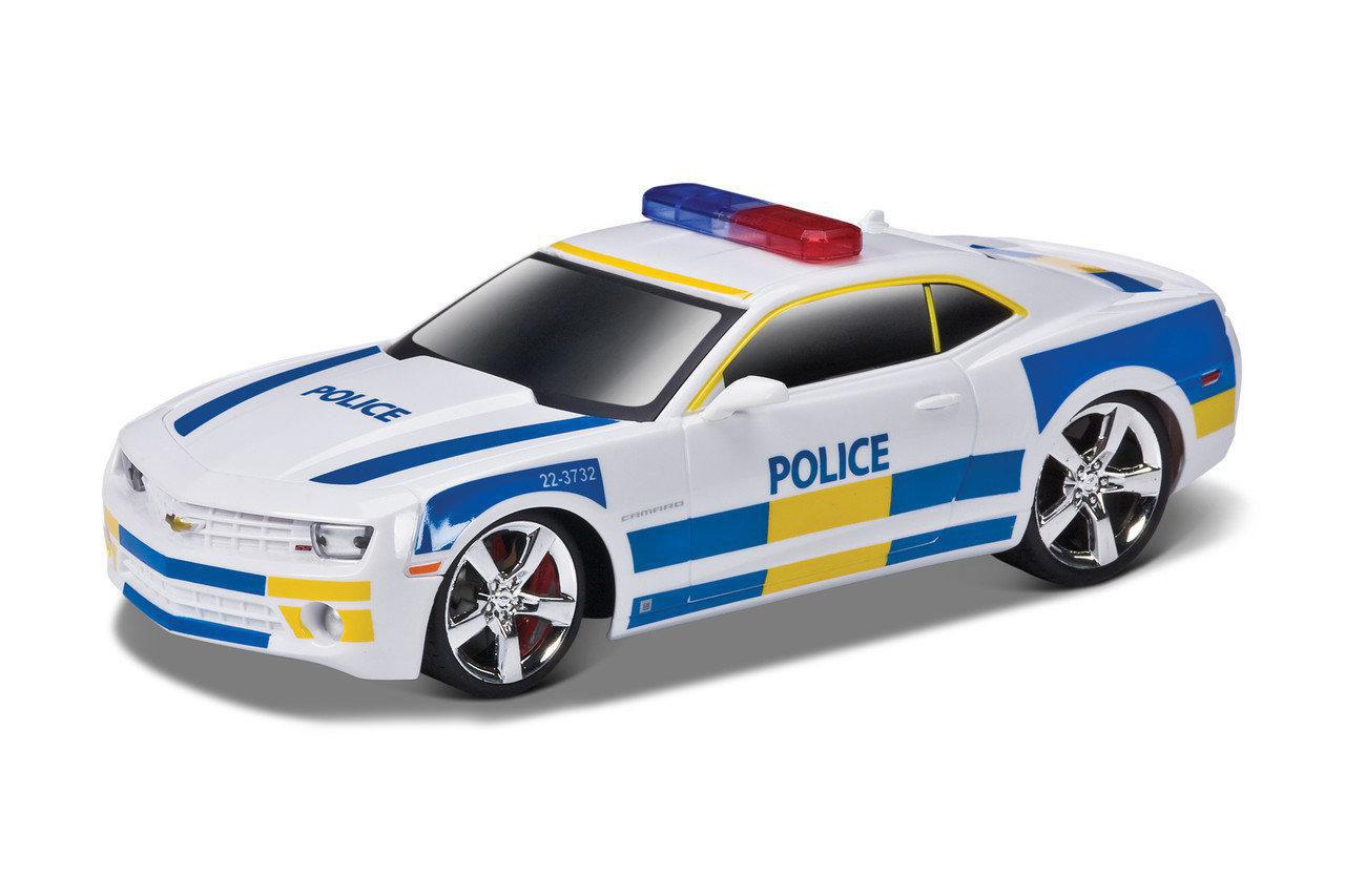 Игровая автомодель Chevrolet Camaro SS RS (Police) белый (свет. и звук), М1:24, 2шт. бат. АА в компл