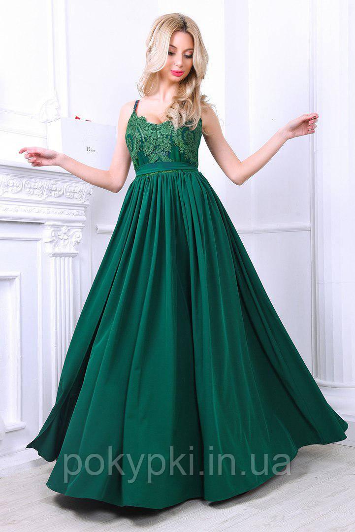 da02e428014 Купить Праздничное платье в пол изумрудного цвета в Харькове от ...
