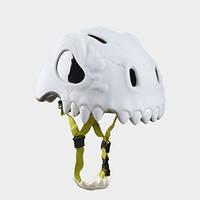 Шлем детский защитный для катания Crazy Safety дикий череп (с фонариком)