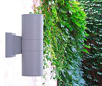 Фасадный светильник 264мм, 2*E27 IP65 серый LM995, фото 1