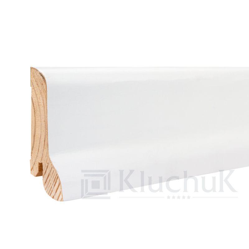 Шпонированный плинтус «White Plint» KLW 02